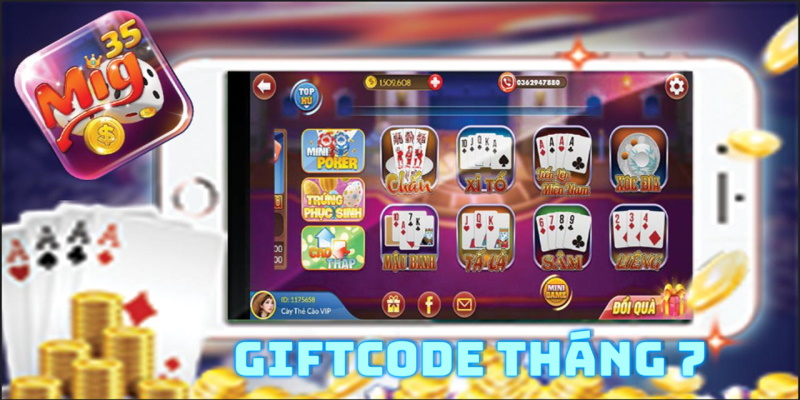 Giftcode từ Mig35 tháng 7